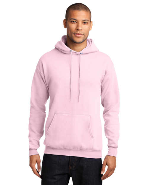 Port & Company PC78H Mens 78 Oz Pullover Hooded SweatShirt Pale Pink at bigntallapparel