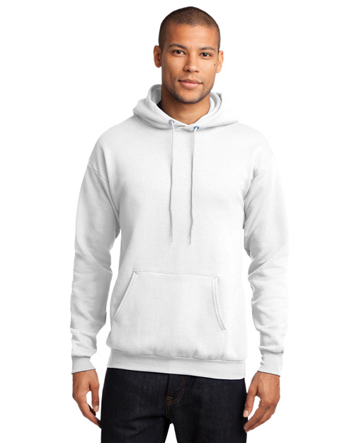 Port & Company PC78H Mens 78 Oz Pullover Hooded SweatShirt White at bigntallapparel