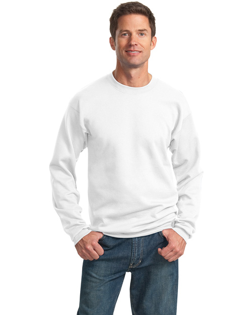 Port & Company PC78 Mens 78 Oz Crewneck SweatShirt White at bigntallapparel