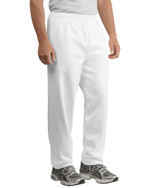 Port & Company PC90P Men Sweatpant With Pockets White at bigntallapparel