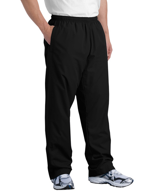 Sport-Tek PST74 Mens Wind Pant Black at bigntallapparel