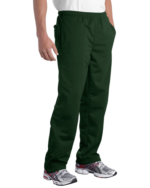 Sport-Tek PST91 Mens Tricot Track Pant Forest Green at bigntallapparel