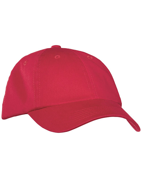 Port Authority PWU Mens Garment Washed Cap Berry at bigntallapparel