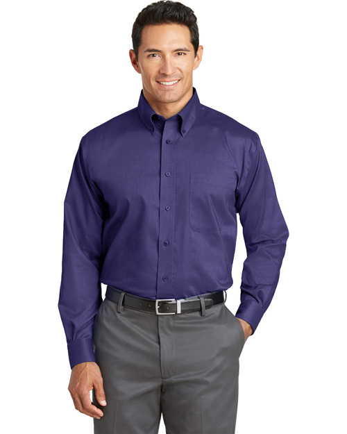 Red House TLRH37 ® Tall Nailhead Non-Iron Button-Down Shirt.  Dark Purple at bigntallapparel