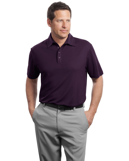 Red House RH49 Mens Contrast Stitch Performance Pique Polo Bermuda Purple at bigntallapparel