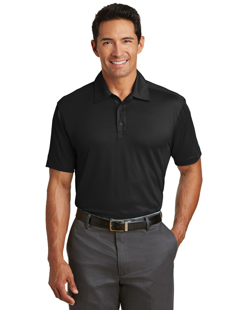 Red House RH51 Mens Ottoman Performance Polo Black at bigntallapparel
