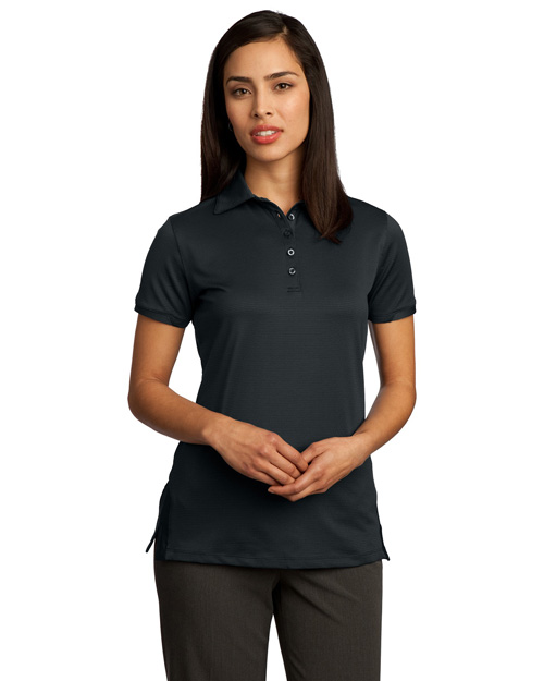 Red House RH52 Women Ottoman Performance Polo Black at bigntallapparel