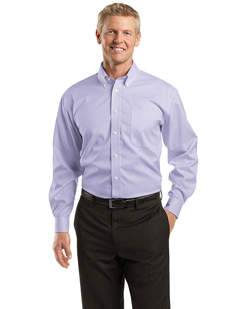 Red House RH60 Mens Dobby Non Iron Button Down Shirt Lavender at bigntallapparel