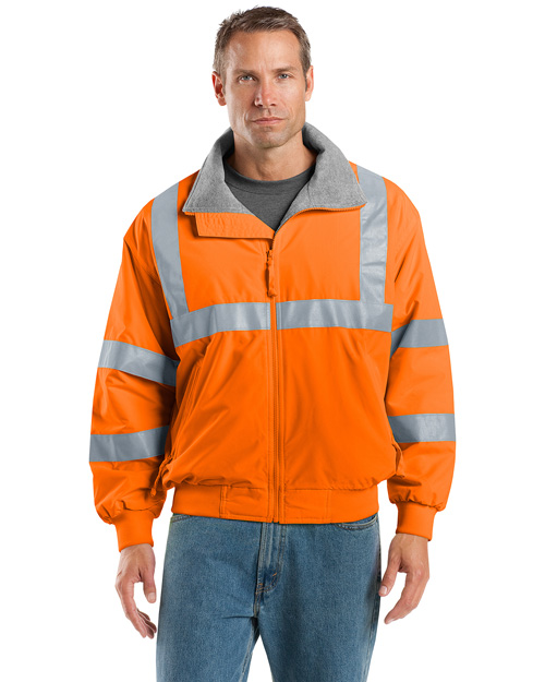 Port Authority SRJ754 Men Safety Challenger Work Jacket With Reflective Taping Safety Orange/ Reflective at bigntallapparel