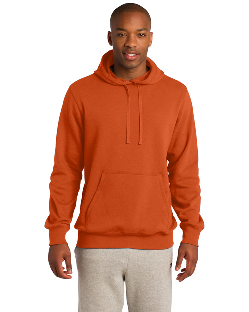 Sport-Tek TST254 Men Tall Pullover Hooded Sweatshirt Deep Orange at bigntallapparel
