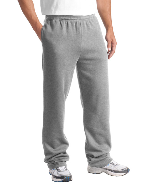 Sport-Tek ST257 Mens Open Bottom Sweatpant Athletic Heather at bigntallapparel