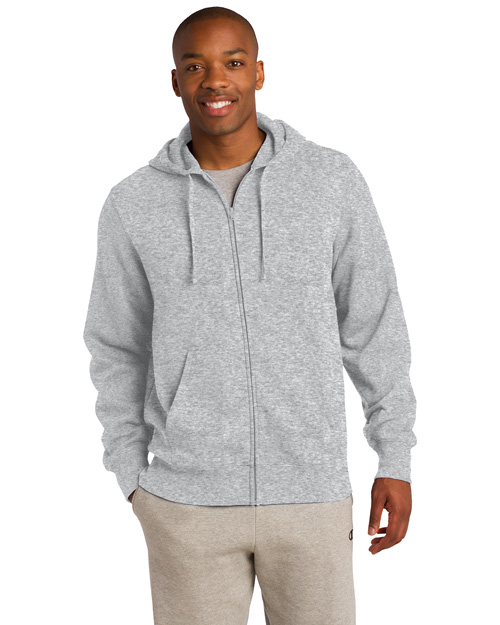 Sport-Tek TST258 Men Tall Fullzip Hooded Sweatshirt Athletic Hthr at bigntallapparel