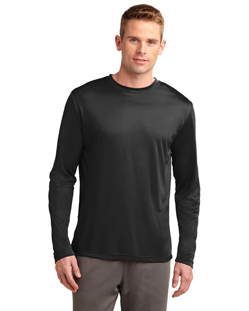 Sport-Tek ST350LS Long Sleeve Competitor™ Tee. Black at bigntallapparel