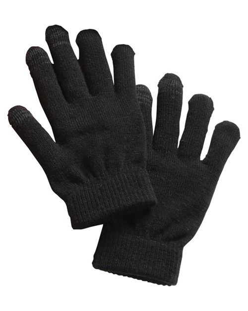 Sport-Tek STA01 ® Spectator Gloves.  Black at bigntallapparel