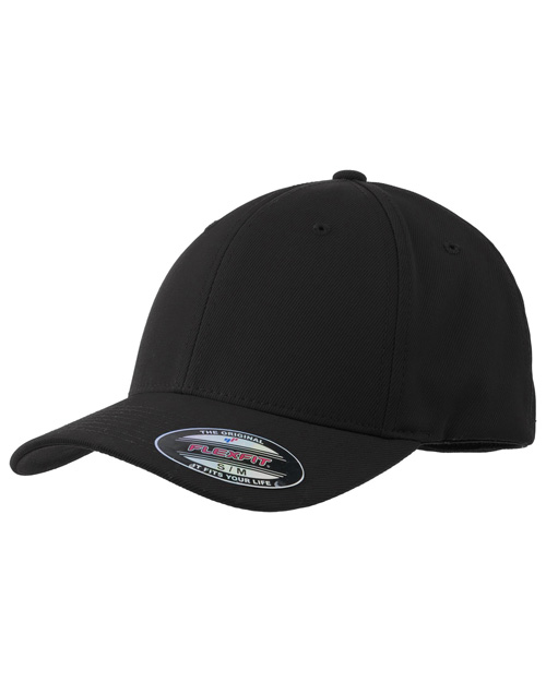 Sport-Tek STC17 Flexfit Performance Solid Cap.  Black at bigntallapparel