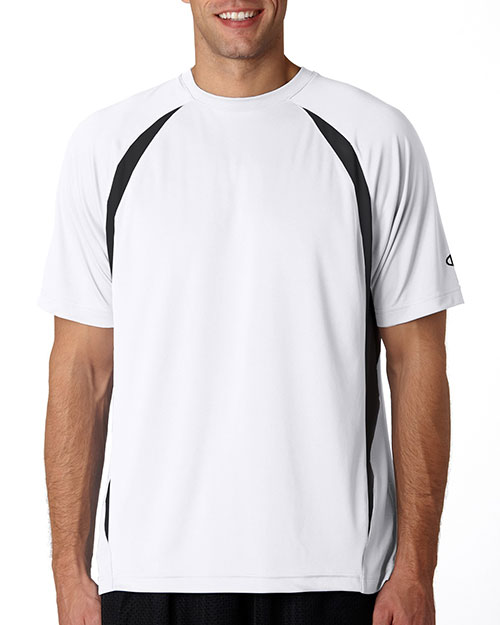 Champion T2052 4.1 oz. Double Dry® Elevation T-Shirt WHITE/BLACK at bigntallapparel