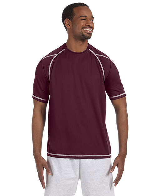 Champion T2057 4.1 oz. Double Dry® T-Shirt with Odor Resistance MAROON at bigntallapparel