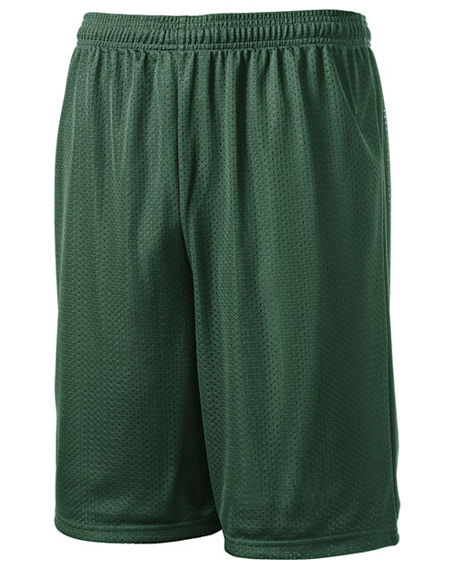 Sport-Tek T515 Men Long Mesh Shorts Forest at bigntallapparel