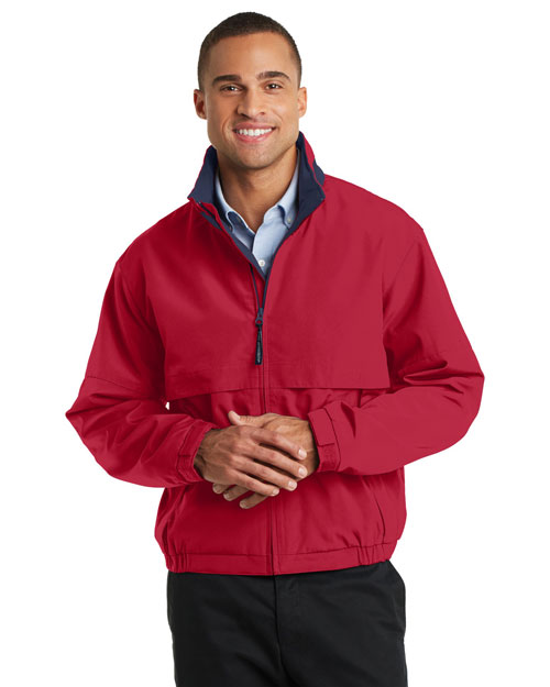 Port Authority TLJ764 Men Tall Legacy? Jacket Red/Dark Navy at bigntallapparel