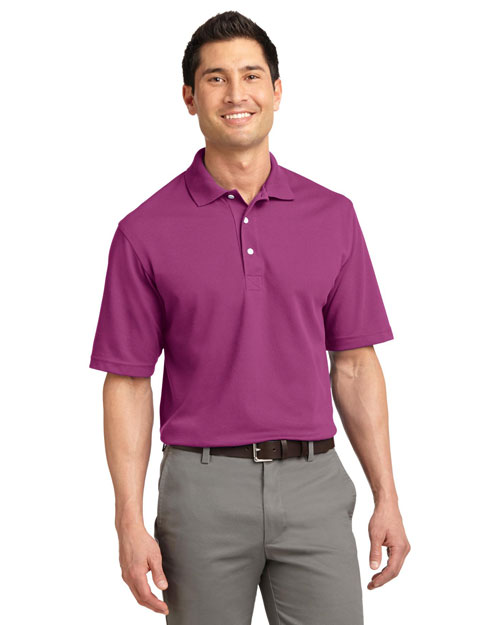 Port Authority TLK455 Men Tall Rapid Dry? Polo Boysnbry Pink at bigntallapparel