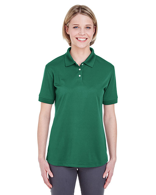 Ultraclub 8315L Women Platinum Performance Pique Polo With Tempcontrol Technology Forest at bigntallapparel