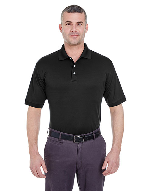 Ultraclub 8315    ® Men's Platinum Performance Piqué Polo with TempControl Technology  Black at bigntallapparel