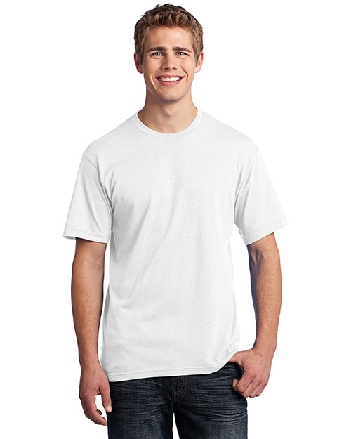 Port & Company USA100 All-American Tee.  White at bigntallapparel