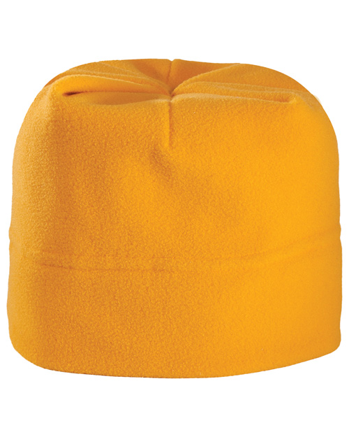 Port Authority C900 Mens R Tek Stretch Fleece Beanie Athletic Gold at bigntallapparel