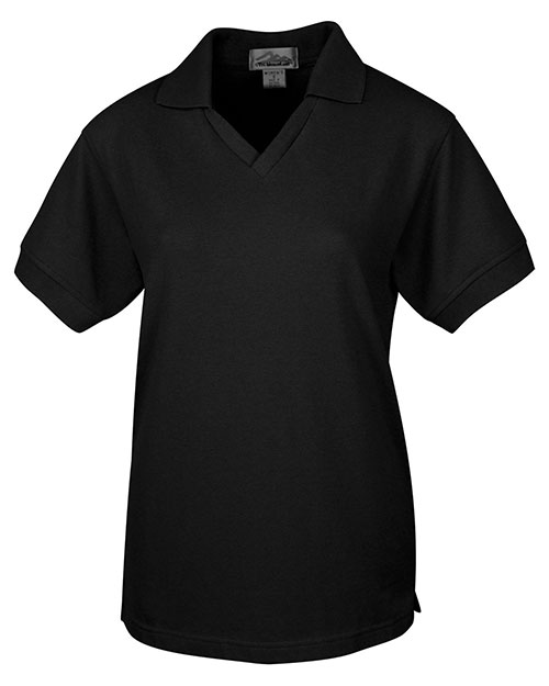 Tri-Mountain 101 Womens 60/40 V-Neck Pique Golf Shirt at bigntallapparel
