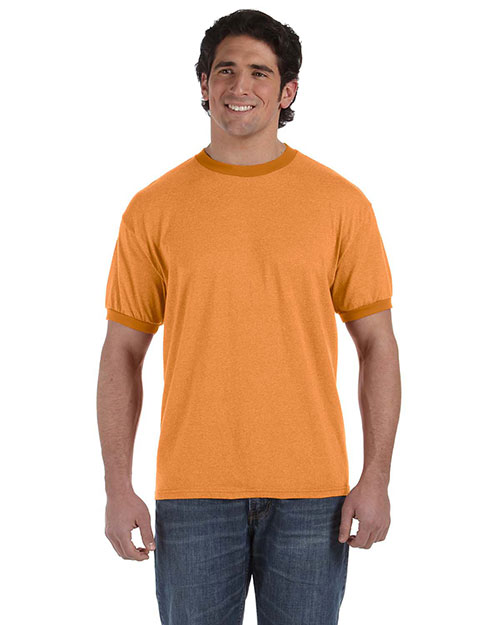 Authentic Pigment 1937 6 Oz. Direct-Dyed Heather Ringer T-Shirt at bigntallapparel