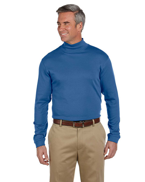 Chestnut Hill CH230 Mens Pima Cotton Mock Neck at bigntallapparel