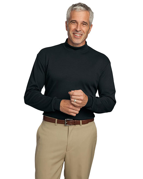 Port Authority K321 Mens Interlock Knit Mock Turtleneck at bigntallapparel