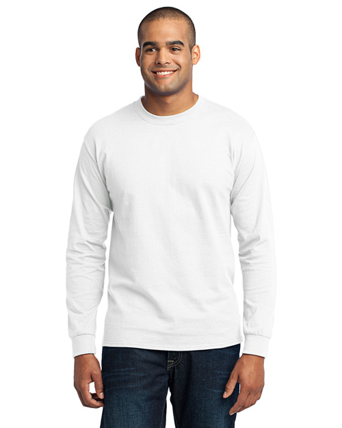 Port & Company PC55LST Men's Tall Long Sleeve 50/50 Cotton/Poly TShirt