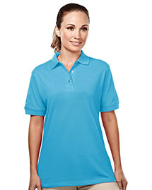 Tri-Mountain 092 Womens 60/40 Easy Care Pique Golf Shirt at bigntallapparel