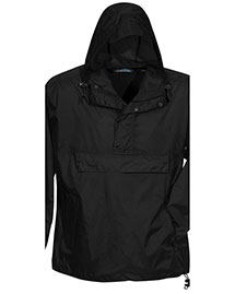 Tri-Mountain 1000 Men Unlined Nylon 1/2 Zip Anorak Hooded Jacket