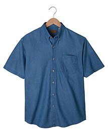 Edwards 1013ED Men's Mid-Weight Short Sleeve Denim Shirt at bigntallapparel