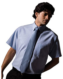 Edwards 1027 Men Short Sleeve Oxford Shirt