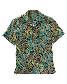 Edwards 1032 Unisex Tropical Leaf Camp Shirt at bigntallapparel