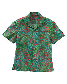 Edwards 1032 Men  Tropical Leaf Camp Shirt