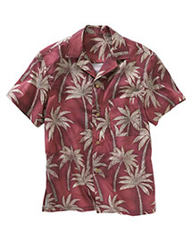Edwards 1034 Unisex Tropical Palm Camp Shirt at bigntallapparel