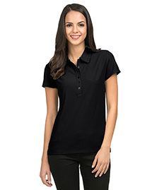 Tri-Mountain 103 Women's poly UltraCool waffle knit golf shirt at bigntallapparel