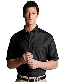 Edwards 1230 Men Easy Care Short Sleeve Poplin Shirt