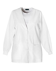 Cherokee 1301 Women Cherooke   Button Front Warmup Jacket