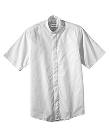 Edwards 1346 Men's Short Sleeve Banded Collar Shirt at bigntallapparel