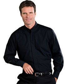 Edwards 1396 Men's Long Sleeve Banded Collar Shirt at bigntallapparel