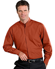 Edwards 1396 Men Long Sleeve Banded Collar Shirt at bigntallapparel