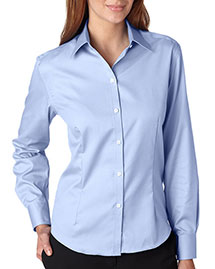 Van Heusen V0144 Women Longsleeve Noniron Pinpoint Oxford at bigntallapparel