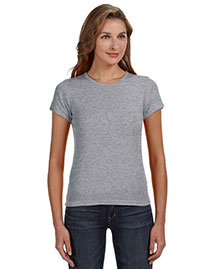 Anvil 1441 Ladies' 1x1 Rib Scoop Neck T-Shirt at bigntallapparel