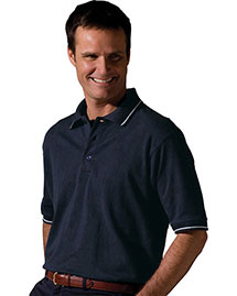 Edwards 1510 Men Short Sleeve Tipped Collar And Cuff Polo