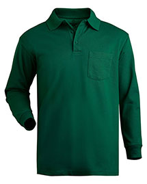 Edwards 1525 Unisex Long Sleeve Pique Polo With Pockets at bigntallapparel